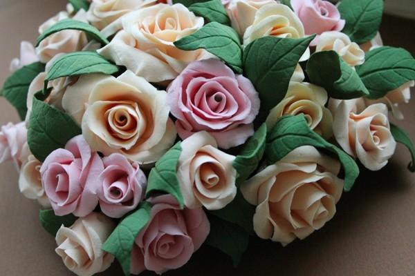 Розы из полимерной глины. СЕРДЦЕ ИЗ РОЗ (52) (600x400, 149Kb)