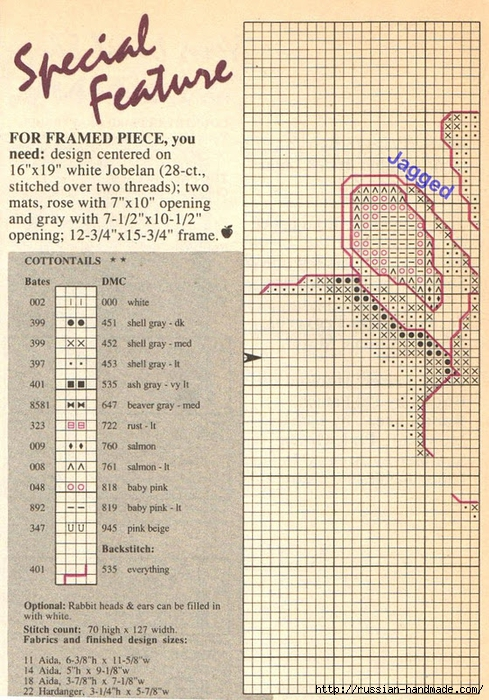 Схема для вышивки. КРОЛИКИ (1) (489x700, 356Kb)