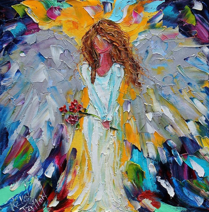 little-angel-with-roses-karen-tarlton (691x700, 527Kb)
