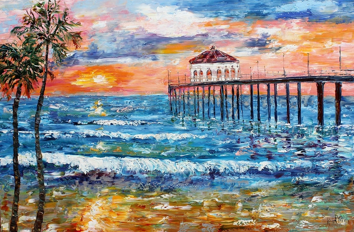 manhattan-beach-california-sunset-karen-tarlton (700x458, 361Kb)