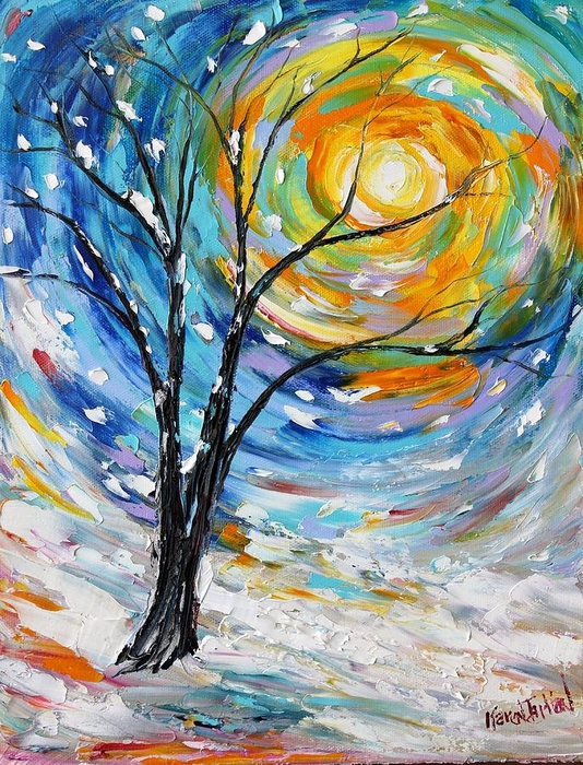 first-snow-karen-tarlton (534x700, 400Kb)