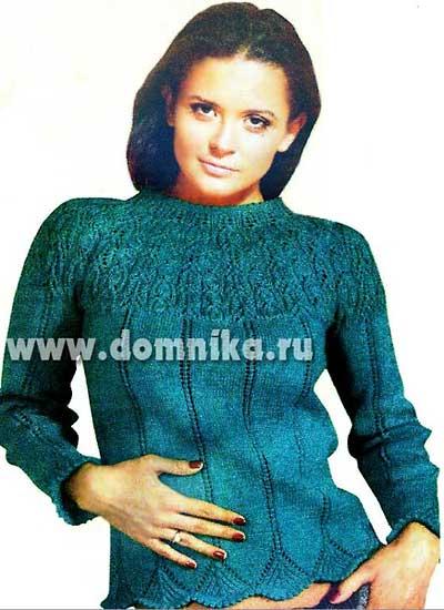 4108541_zhenskij_sviter_s_azhurnoj_koketkoj (400x550, 36Kb)