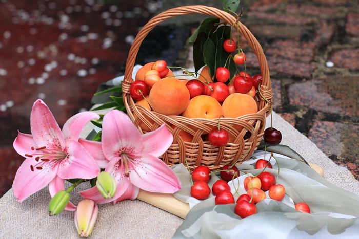 цветы и фрукты 3 (700x467, 561Kb)