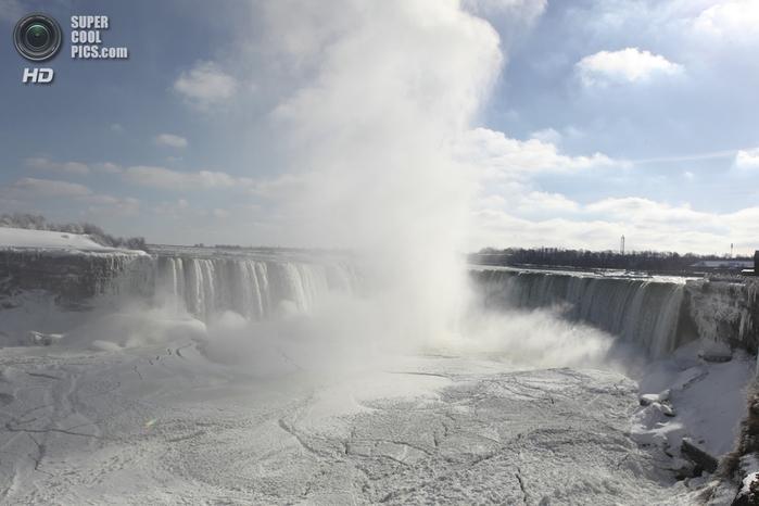 замерзший ниагарский водопад фото (700x466, 179Kb)