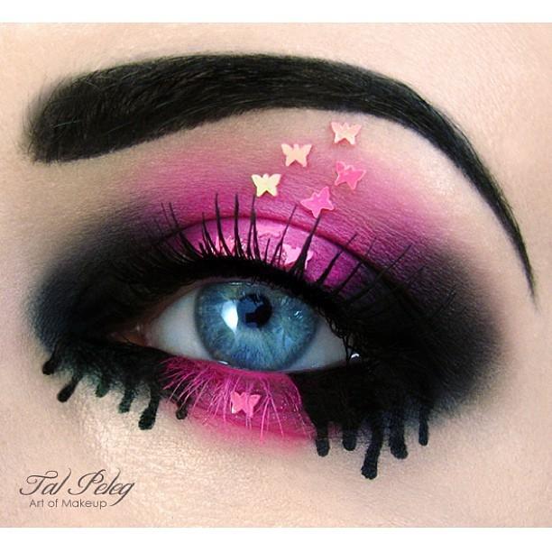 необычный макияж фото 11 (612x612, 205Kb)