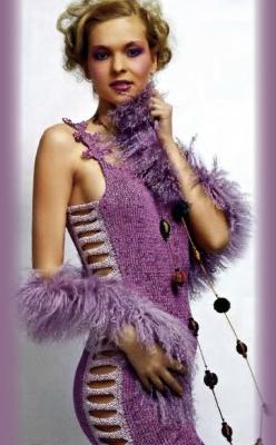 Схемы вязание на спицах платья бесплатно