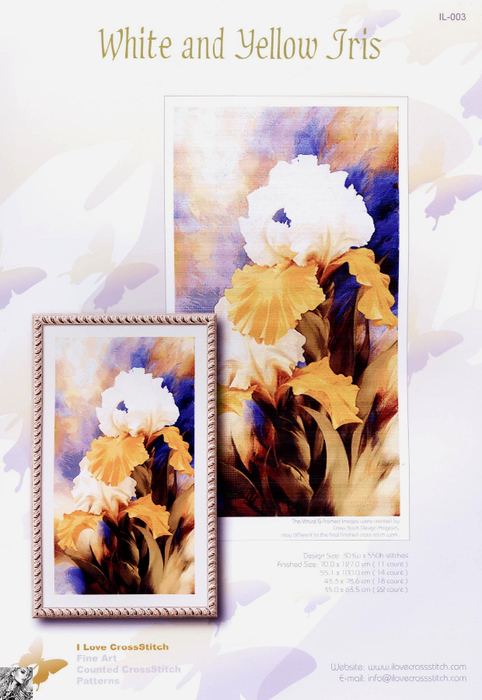 White and Yellow Iris (482x700, 336Kb)