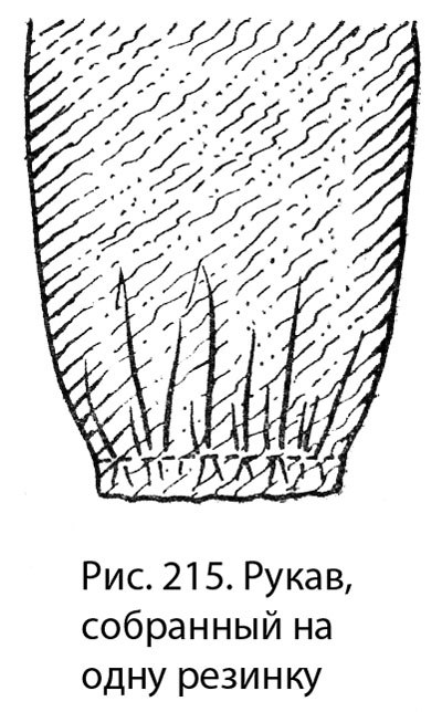 Обработка низа рукава(описание