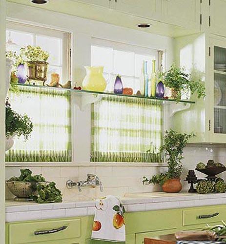 Дизайн кухни с панорамным окном