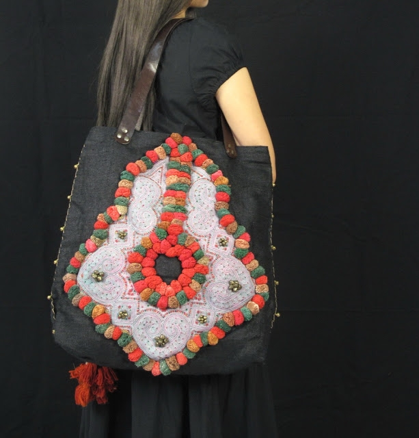 Black Hemp Hill Tribe Embellishment Hippie Boho Bag 1 (613x640, 188Kb)