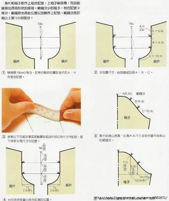 Как сделать для рукавов 85