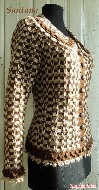 """钩针:""""香奈儿的风格的上衣"""" - maomao - 我随心动"""
