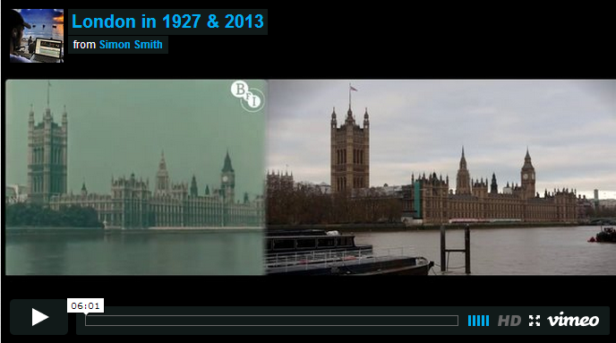 Короткометражка  Лондон 1927 и 2013    в блоге Blogbaster.org (688x383, 247Kb)