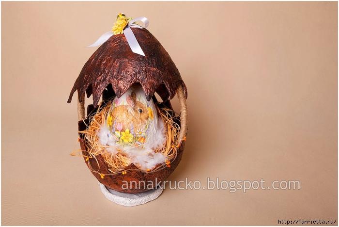 Скорлупка для пасхального яйца из папье маше. Мастер-класс (1) (700x468, 198Kb)