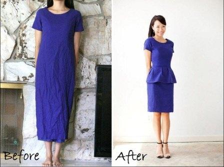 Как переделать узкое платье своими руками