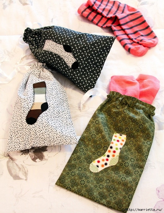 Шьем мешочки для носочков. Аппликация (1) (530x689, 305Kb)