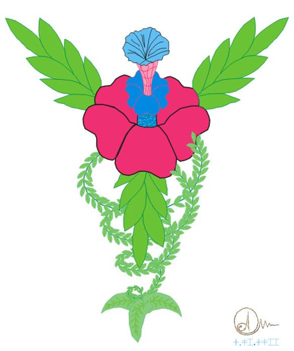 цветок с подписью (585x700, 94Kb)