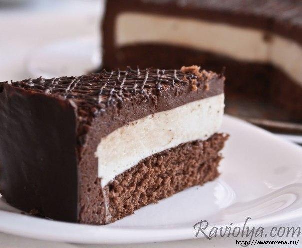 Шоколадный крем суфле для торта