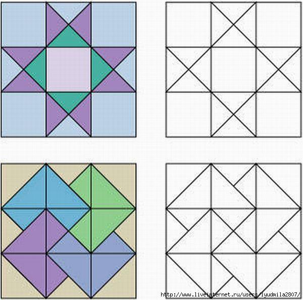 Графические рисунки в квадрате