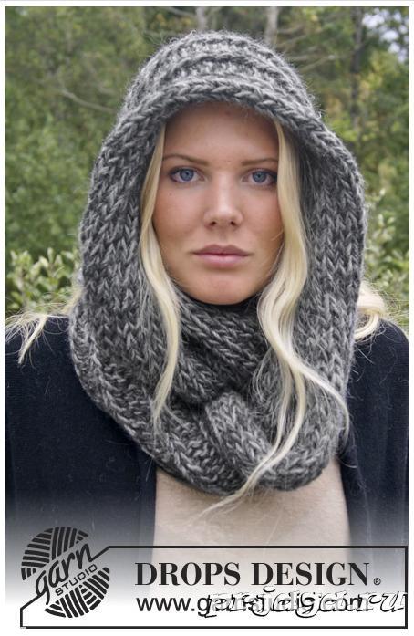 Вязание спицами – шарф - снуд