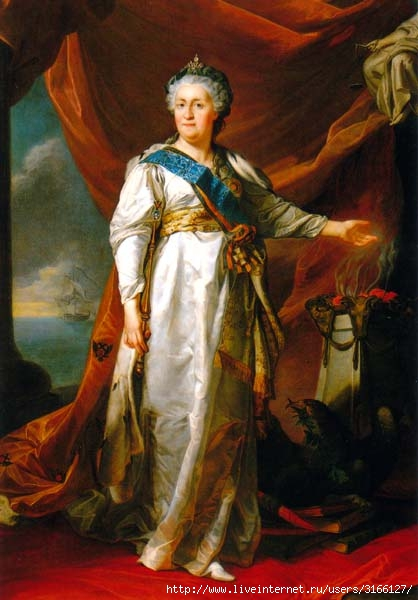 Княгиня Воронцова-Дашкова ворвалась в спальню Екатерины и застыл…