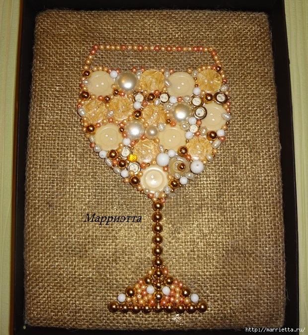 панно из пуговиц - бокал (7) (620x675, 450Kb)
