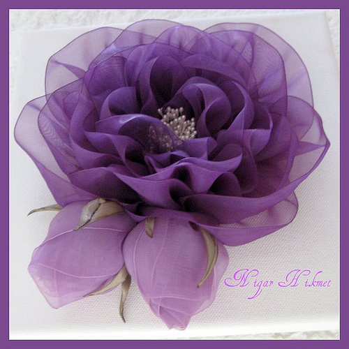 Огромные цветы из ткани своими руками мастер класс