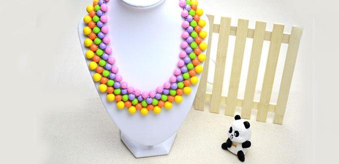 Бисерное ожерелье воротник