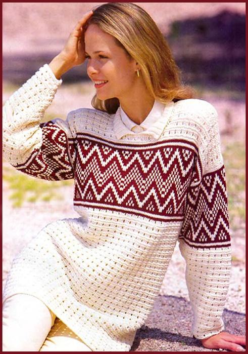 Жаккардовый узор в женском вязании