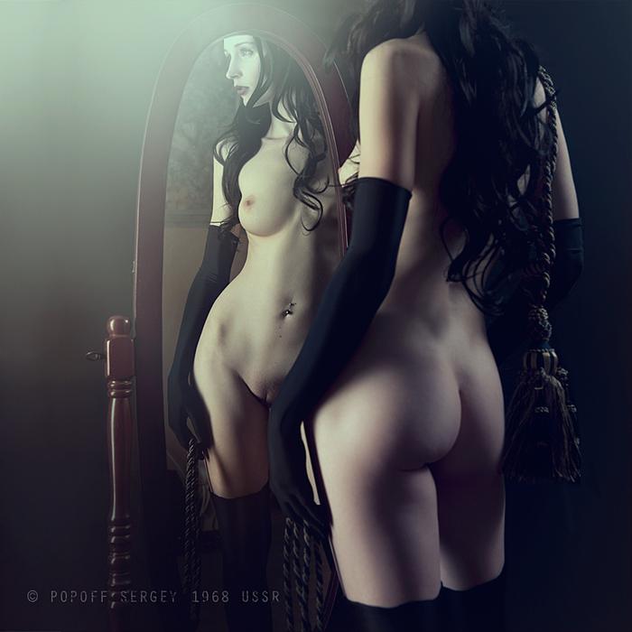 Фото русые девушки обнаженные в зеркале 28 фотография