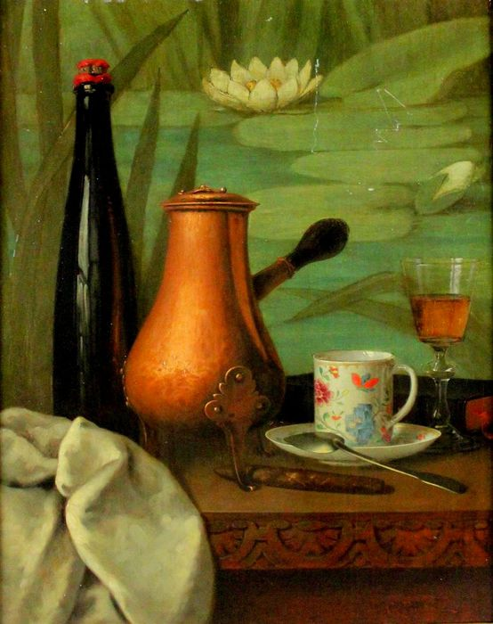 2JEAN GUSTAVE POMBA (FRENCH 19TH CENTURY) STILL LIFE WITH HOT CHOCOLATE POT (554x700, 65Kb)