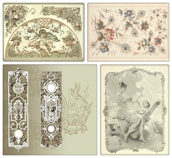 Картинки для декупажа в стиле барокко