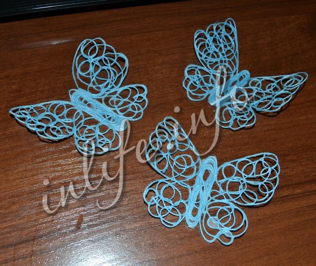 Бабочки из ниток своими руками мастер класс