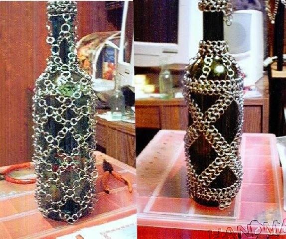Оформление бутылок бисером своими руками