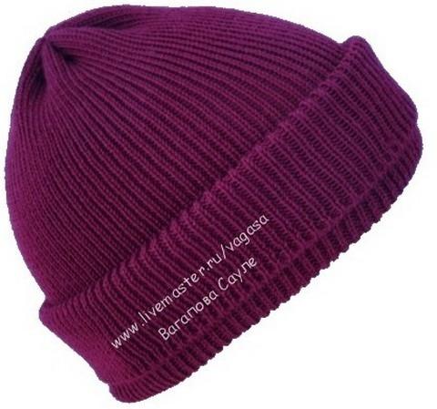 шапка вязаная от Сауле Вагаповой