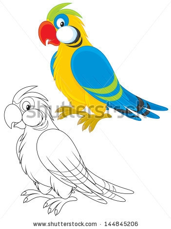 stock-vector-parrot-144845206 (351x470, 71Kb)