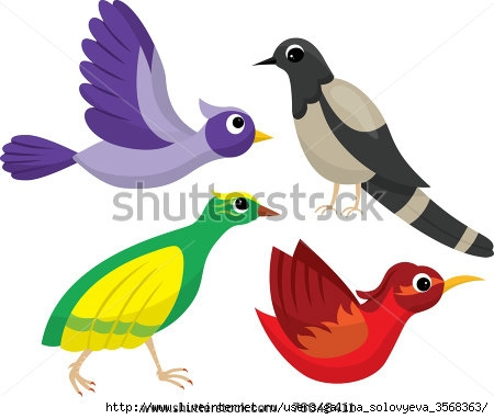 stock-vector-set-of-bright-cartoon-birds-76048411 (450x382, 75Kb)