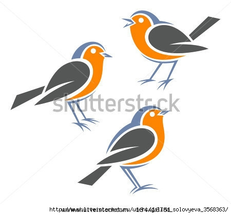 stock-vector-stylized-birds-european-robin-134413781 (450x420, 59Kb)