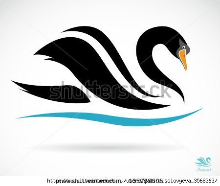 stock-vector-vector-image-of-a-swan-on-a-black-background-135939605 (450x380, 54Kb)