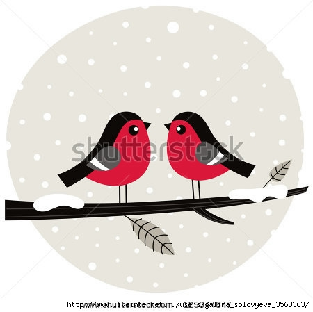 stock-vector-winter-birds-sitting-on-the-branch-125044847 (450x449, 60Kb)