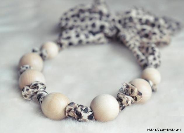Стильное ожерелье из шифона и деревянных бусин (1) (630x454, 99Kb)