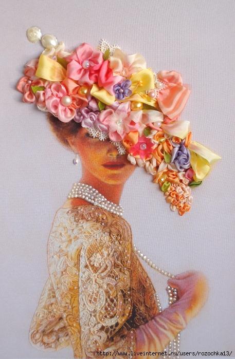 Леди Виктория - моя вышивка по картине  американской художницы  Sue Halsпоtenberg.
