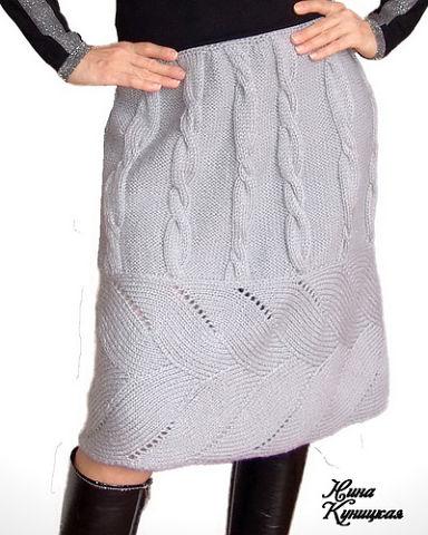 Великолепная юбка спицами (384x480, 106Kb)