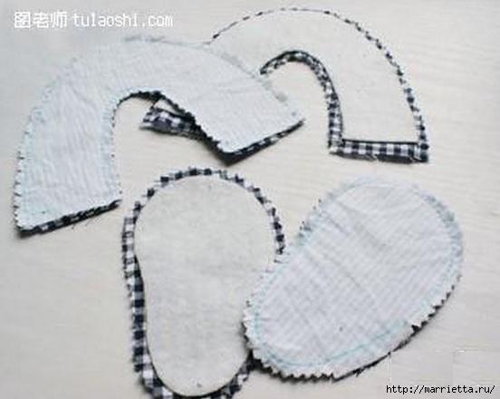Тапочки с мишками для малыша. Шьем сами (4) (552x440, 101Kb)