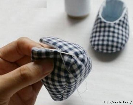 Тапочки с мишками для малыша. Шьем сами (8) (551x435, 93Kb)