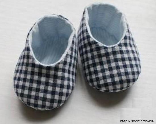 Тапочки с мишками для малыша. Шьем сами (10) (549x437, 103Kb)