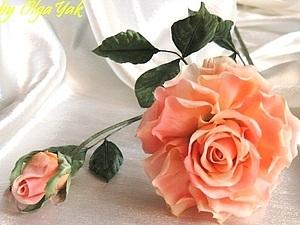 Роза из ткани. Простая, но эффектная. | Ярмарка Мастеров - ручная работа, handmade