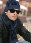 Превью Мужской шарф с двухцветной косой (500x700, 235Kb)