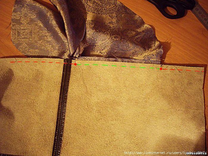Карман в кожаной сумке как сшить