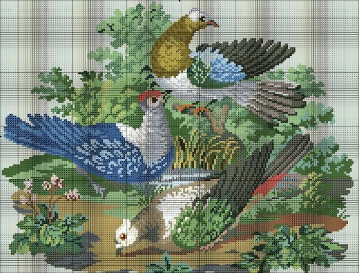 【引用】外网~十字绣(165) - 秋林红叶 -